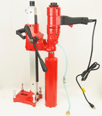"""BLUEROCK  4"""" Z1WS Concrete Core Drill With Stand & 1-4"""" Bit Set - Package Deal"""