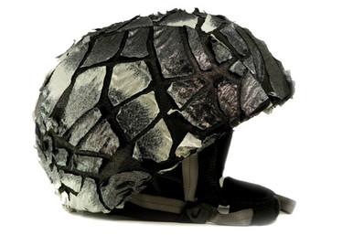 Silver Fracture Helmet Cover