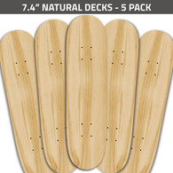 7.4 Natural Decks 5 Pack