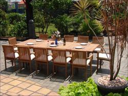 12 Seat Rio Outdoor Teak Set
