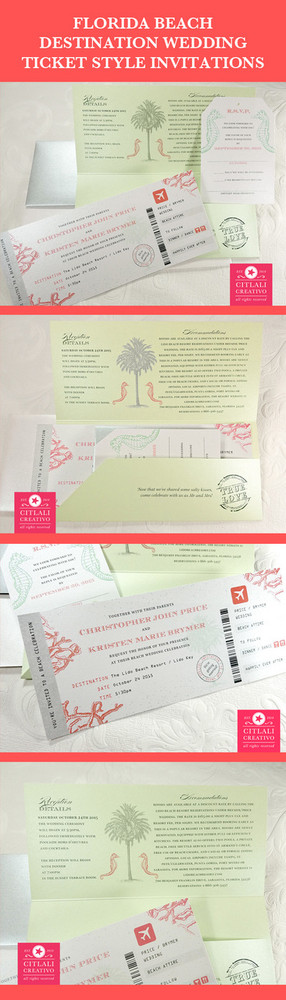 Boarding Pass Invitations RSVP Tag Style in Folder Citlali
