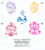 Ganesha Henna Menhdi Paisley Medallion Thank You Cards