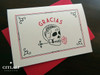 Modern Skull & Rose in Mouth Gracias Thank You Cards