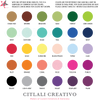 Swatches of common inks