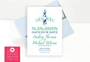 Lighthouse Banner Wedding save the date
