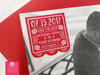 Photo Papel Picado Wedding Save the Date Cards in red