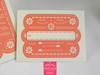 Papel Picado Wedding Invitation in coral & printed envelope liner