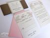 Pink & Sand Palm Tree Silhouette Beach Wedding Invitation
