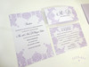 Plum Purple & Lilac Elegant Floral Damask Wedding Invitation