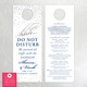 Confetti Dots Shhh Do Not Disturb Wedding Guest Door Hangers