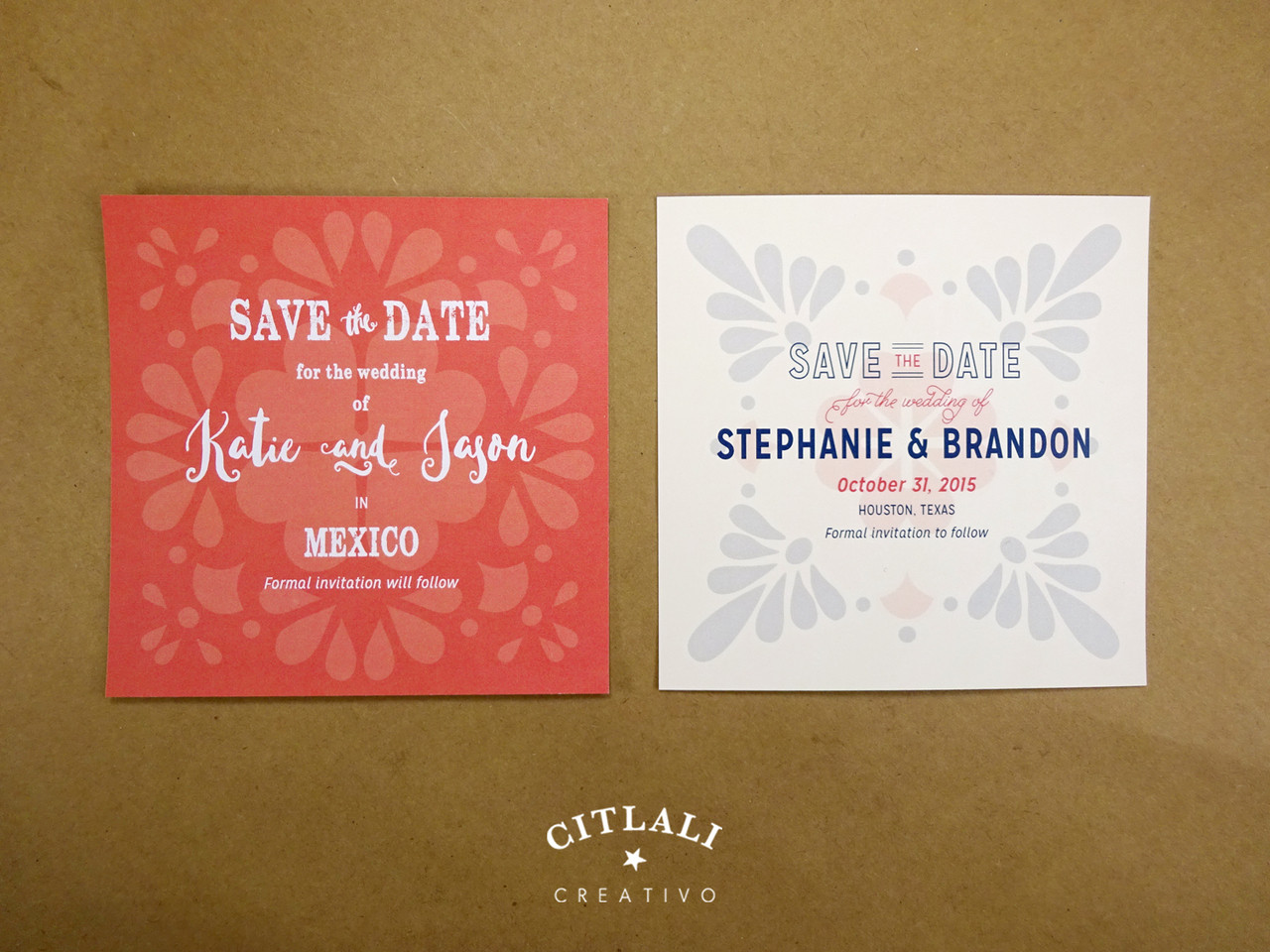 Beautiful invitations in spanish for wedding adornment invitations talavera spanish tile wedding save the date announcement citlali stopboris Image collections