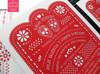 Amor Eterno Mexican Papel Picado & Sugar Skulls Wedding Invitations in Red