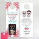 Photo Sugar Skull & Roses Do Not Disturb Wedding Door Hangers