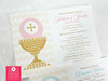 First Communion Chalice Invitation Card - Twin Girls