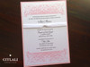 Pink Cross Flourish Christening Invitations