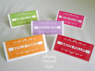 Papel Picado Wedding Reception Place cards