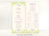 Elegant Floral Flourish Wedding Ceremony Programs