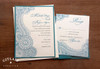 Paisley Mehndi Indian Wedding Invitations in Teal & Ivory