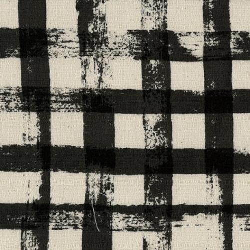 Simple - Checks - Black (Barkcloth)
