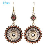 BOHO - CORAL BEADS & RHINESTONES EARRINGS