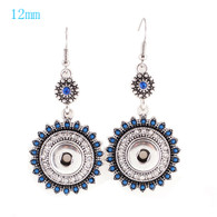 BOHO - SEA BLUE BEADS & RHINESTONES EARRINGS