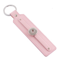 LEATHER STAINLESS STEEL KEYCHAIN REMOVABLE - BABY PINK