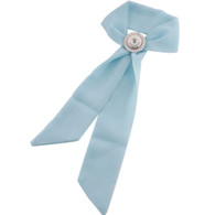 SILK SCARF - BABY BLUE