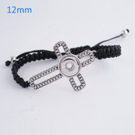 ELEGANT BLACK BRACELET WITH CROSS
