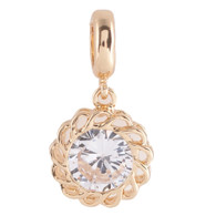 GOLD ZIRCON NEST   Z-CHARM