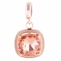 ROSE GOLD AGATE GLASS DANGLE  Z-CHARM