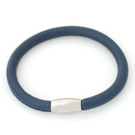 ZILLION NAVY SINGLE LEATHER BRACELET