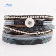 40 CM STATEMENT BRACELET - BLACK & GRAY SNAKE