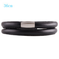 ZILLION BLACK DOUBLE LEATHER BRACELET