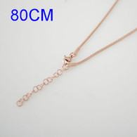 SNAKE LONG CHAIN- ROSE GOLD