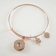 ONE BUTTOM  BANGLE - ROSE GOLD