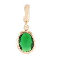 GOLD EMERALD OVAL DANGLE  Z-CHARM