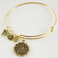 ANTIQUE GOLD PATH OF LIFE BANGLE