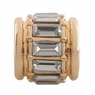 GOLD ZIRCON ROLL Z-CHARM