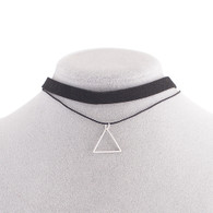 CHOKER - TRIANGLE OF WISDOM (SILVER)