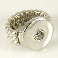 SILVER BRAIDED STRETCH RING