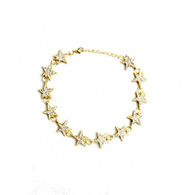 CHOKER - JET SET STARS (GOLD)