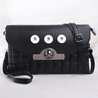 LEATHER MODERN STYLE INSPIRED BAG -BLACK