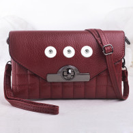 LEATHER MODERN STYLE INSPIRED BAG - RED