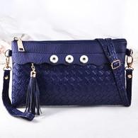 SOFT LEATHER VINTAGE  INSPIRED BAG - NAVY BLUE