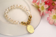 LUXE FRESHWATERS PEARLS GOLD BRACELET (MOMMY)