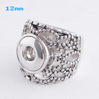 RUSTIC SILVER RING - SIZE 8