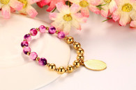 LUXE ORCHID PEARLS GOLD BRACELET (GUADALUPE VIRGIN)