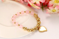 LUXE ETERNITY GOLD BRACELET (HEART)