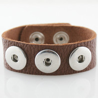 BROWN LEATHER TOGO BRACELET - 24