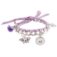 FANCY ROPE LACE BRACELET - PURPLE